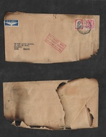 Airmails - World. 1954 (9 March) Singapore Air Crash (13 March) New Zealand - France. 7sh Rate. - Unclassified