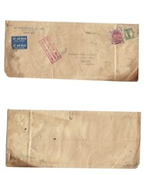 Airmails - World. 1954 (13 March) Singapore Air Crash. Australia - France. Fkd Env 5 Shilling On Cover. Red Cachet. - Unclassified