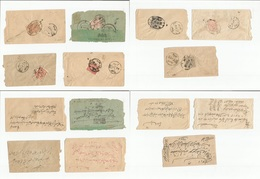Afghanistan. C.1916 WWI Seven Internal (one To India) Fkd Local Envelopes. Opportunity. One Is British Censored Label. - Afghanistan