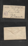Argentina. 1884 (26 May) Buenos Aires - Italy, Chieti, Carunchio. Envelope With Full Text Contains, Carried On Steamship - Argentina
