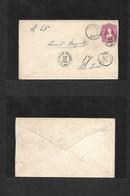 Argentina - Stationery. 1886 (25 Apr) Valle Fertil - San Juan (28 Apr) 8c Red Stat Env. VF Origin Cds. Rare Item. - Argentina