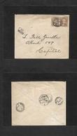 "Argentina. 1890 (17 Sept) Buzonistas Capital Bs Local Usage. 1c Brown Pair Fkd Env. + ""Buzon86"" Box Several Admin Cachet - Argentina"