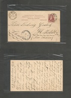 Argentina - Stationery. 1896 (15 Sept) Quilmes - Germany, Hettstedt, Sachsen (11 Oct) 6c Red Lilac Stat Card, Cds. Fine  - Argentina