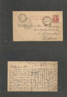 "Argentina - Stationery. 1896 (7 Dec) German Fragate ""De Rupter"", Rio Santiago Pto Plata - Netherlands. Gravenhage (31 De - Argentina"