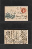 Argentina - Stationery. 1898 (25 Nov) Buenos Aires Local Usage. La Albertina - General La Madrid (26 Nov) 3c Orange Stat - Argentina
