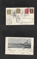 Argentina. 1899 (Abr 7) Buenos Aires - Switzerland, Locanno (1 May) Multifkd Ppc + Taxed + Swiss Postafe Dues 10c + 20c  - Argentina