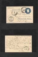 Argentina - Stationery. 1899 (8 Sept) Estacion La Falda, Cordoba - Germany, Chemnitz, Sachsen (7 Oct) 5c Blue Stat Card. - Argentina