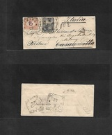 Argentina. 1901. PM Unsealed Small Envelope Fkd 2c Black, Cds + Italy, Milano, Cassale Citta Arrival Italian Postage Due - Argentina