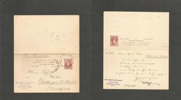 Argentina - Stationery. 1901 (6 Apr) Buenos Aires - Germany, Rottingen. 6c Red Lilac Debile Stat Card, Used Way Out. Fin - Argentina