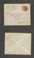 Argentina - Stationery. 1903 (20 April) Laboulaye - Buenos Aires. 5c Red Stat Env PRIVATE PRINT Farmacia Del Pueblo FCP  - Argentina