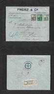 "Argentina - Xx. 1906. Buenos Aires - Penang, Str. Stlmts, Malaysia (12 Apr) Registered Multifkd Env 15c + 10c + 2c ""Stea - Argentina"