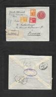 Argentina - Stationery. 1906 (Febr 28) Rosario - Penang, Str. Stlments, Malaysia (18 Apr) Via Buenos Aires - London. Reg - Argentina