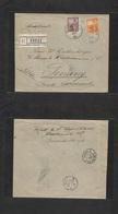 Argentina - Xx. 1906 ( Mar) Buenos Aires - Penang, Str. Stlments, Malaysia (25 April) Registered Multifkd Env 24c + 3c,  - Argentina