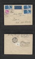 Germany - XX. 1949 (27 Oct) Sarstadt - Chile, Osorno (2-3 Nov) Air Multifkd Envelope. VF + Scarce Period Usage. - Germany