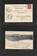 Italian Colonies. 1901 (24 Dec) ERITREA. Massaua - Germany, Limburg (4 Jan 02) Fkd Ppc, King Ovptd Issue, Cds + Arrival. - Italy