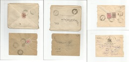 Persia. 1919. Unover Printed Issue. 3 Local Multifkd Envelopes Diff Town Usages + Values. Opportunity. - Iran