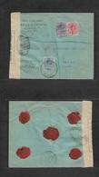 E-Alfonso Xiii. 1917 (13 Marzo) 269, 270, 274. Alcoy, Alicante - Suiza, Vevey. Sobre Certificado Franqueo Multiple Medal - Spain