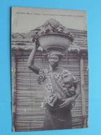 MADIMBA ( Moyen Congo ) Façon Typique De Transporter Enfant Et Victuailles ( J.I.P ) Anno 19?? ( Voir / Zie Photo ) - Frans-Kongo - Varia