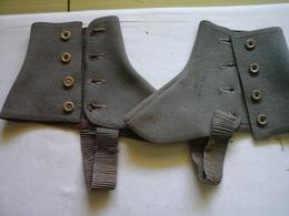 2 Guêtres Kaki Militaria ( Voir ? Guerre 14/18 Ou Autre ) - Uniforms