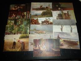 """ENSEMBLE DE 16 CARTES DESSINEES; SERIE """" OILETTE, Collection - SERIE VUE DE VIE A LA CAMPAGNE - THEMATIQUE (AE) - Postcards"""
