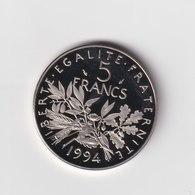 5 Francs Semeuse, Nickel BE Belle épreuve  1994 - France