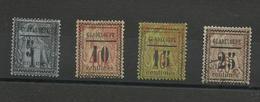 1889 Guadeloupe N° 6 à 8 Neufs*, N° 9 Oblitéré, Cote YT 127€ - Ungebraucht