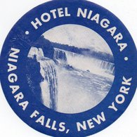 96Hs  Etiquette Autocollante Hotel Niagara Falls New York - Hotel Labels