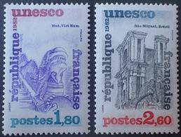 R1615/306 - 1982 - SERVICE - UNESCO - N°71 à 72 NEUFS** - Neufs