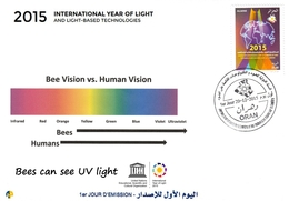 DZ Algeria 1731 2015 International Year Of Light Bees Can See UV Light Abeilles Bienen Abejas Api Bijen пчелы - Physics