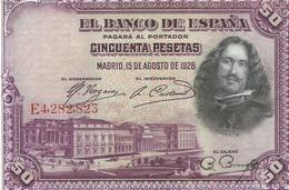 ESPAÑA , BILLETE DE 50 PESETAS 15/8/1928  EBC - [ 1] …-1931 : Eerste Biljeten (Banco De España)