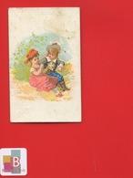 TARARE  Barlerin Farine Mexicaine Chromo Couple Chevalier De Malte Circa 1880 - Chromo