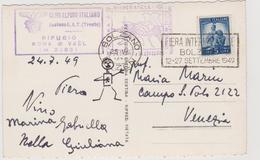Rifugio Roda Di Vael  (BZ)  , Vari Timbri Annulli E Targhetta Fiera Di Bologna 1949  - F.p. -  Anni '1940 - Other Cities
