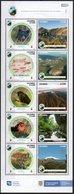 Colombia 2019 ** Minipliego SERIE 10 Sellos Panrques Naturales Nacionales. Fauna, Flora Y Paisajes. - Colombia