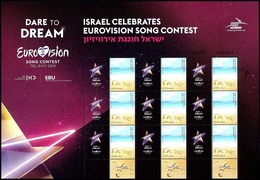 "ISRAEL 2019 - ""Eurovision 2019"" Song Contest In Tel Aviv - Generic Sheet - MNH - Music"