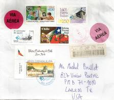 Belle Lettre Recommandée Du Chili, 2007, Adressée Etats-Unis, Avec Timbre à Date Arrivée - Chili
