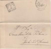 Forlì Del Sannio. 1906. Annullo Tondo Riquadrato FORLI' DEL SANNIO (CAMPOBASSO), Al Verso Di Franchigia Con Testo - Storia Postale