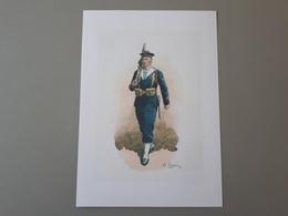 Affiche : Dessins D'un Fusilier Marin Français - Documents
