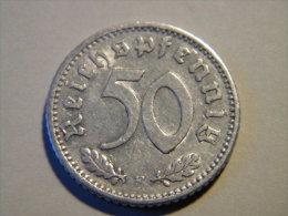 ALLEMAGNE - 50 REICHSPFENNIF 1935 F. - 50 Reichspfennig