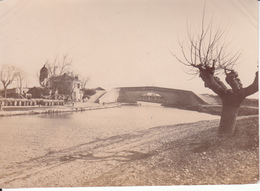 1 PHOTO  VERS 1905  LE CANAL DU MIDI AUX ENVIRONS DE BELLEGARDE  ( GARD) - Lieux
