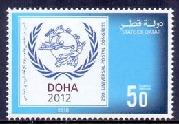 2010 Qatar 25th Congress Of The U.P.U  1 Values MNH - Qatar