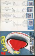ITALIA - ITALIE - ITALY - 1960 - CORTINA - CAMPIONATI MONDIALI DI BOB - 4 CARTOLINE ANNULLI - Francobolli