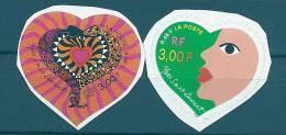 "FR YT 3297 & 3298 Ou Adhesif 27 & 28 "" Saint-Valentin, Saint Laurent "" 2000 Neuf** - France"