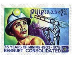 Ref. 59635 * MNH * - PHILIPPINES. 1978. 75th ANNIVERSARY OF THE MINING INDUSTRY . 75 ANIVERSARIO DE LA INDUSTRIA MINERA - Eisenbahnen