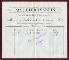 """AUBEPIERRE  : """" MARCHAND DE VIN - PASQUIER-ISSELIN """"  1898 - 1800 – 1899"""