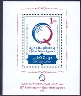 2010 QATAR News Agency Souvenir Sheet MNH - Qatar