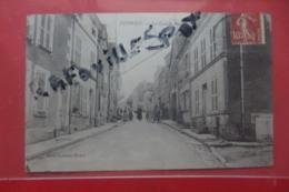 Cp Epineuil La Grande Rue Animé - France