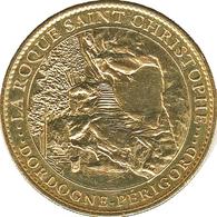 24 PEYZAC LE MOUSTIER LA ROQUE SAINT CHRISTOPHE MEDAILLE SOUVENIR ARTHUS BERTRAND 2008 JETON MEDALS COINS TOKENS - 2008