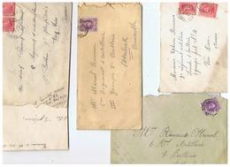 LETTRES CORRESPONDANCE MILITAIRE 1921  DE SARS - LA - BUISSIERE (BELGIQUE) - 1914-18