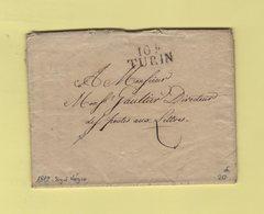 Turin - 104 - 1812 - Lettre En Franchise Pour Le Directeur De La Poste Aux Lettres - Departement Conquis Du Po - 1792-1815: Conquered Departments
