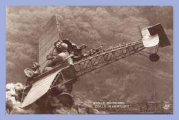 CPA Brune - Sculptographie (Domenico Mastroianni) - 195. Idylle Aérienne - Idylle In Der Luft - Ed. A. Noyer - Aviation